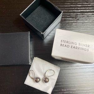 Sterling silver bead earrings